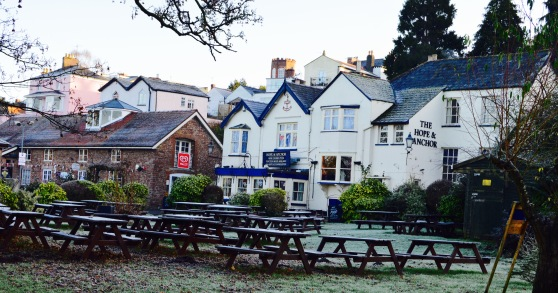 The Hope & anchor, winter