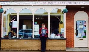 Mandy Price outside her cafe
